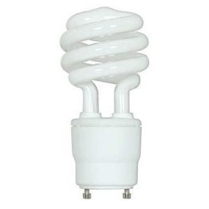 Satco S8205 Compact Fluorescent Lamp, 18W, Twist Lock, 2700K, GU24 Base
