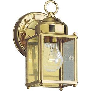 Progress Lighting P5607-10 Lantern, Outdoor, 1 Light, 100W, Polished Brass