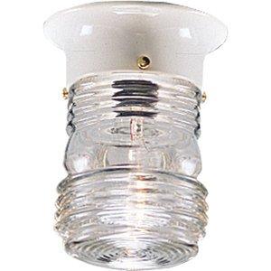 Progress Lighting P5603-30 Ceiling Lantern, Outdoor, 1-Light, 60W, White