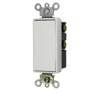 Leviton 56081-2W Momentary Decora Switch, 1P, Double Throw, Center OFF, 3A, 24V, White