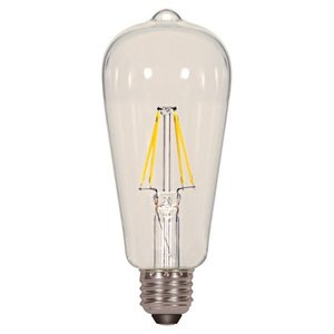 Satco S9581 SATCO S9581 - 6.5 watt ST19 LED; Clear; Medium base; 2700K; 810 lumens; 120 volts; Filament; Vintage