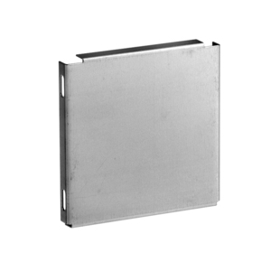 "Unity 44EG Wireway End Plate, 4"" x 4"", Type 1, Galvanized, No KO"