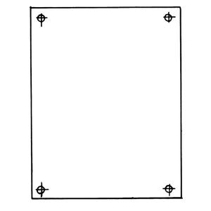 Carlon JP1212 10.75 X 10.87 Back Panel 14 Ga. Whi