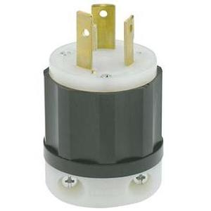 Leviton 2681 Locking Plug, 30A, 480V, 3P3W