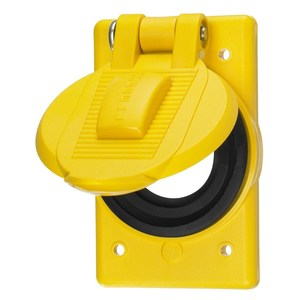 Hubbell-Kellems HBL74CM24WO Weatherproof Cover, Marine Grade, Yellow
