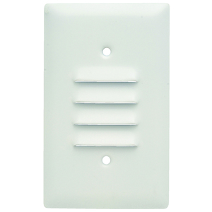Pass & Seymour SS771-W SMOOTH 302SS 1G LOUVRE PAINTED WH