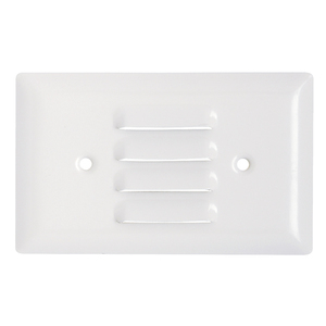 Pass & Seymour SS760-W Louvre Wallplate, 1-Gang,  Stainless Steel Type, Horizontal