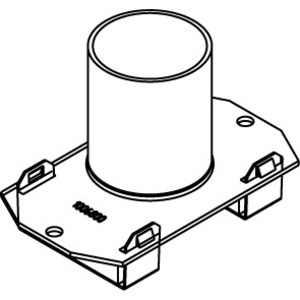 "Wiremold 1125CHA Conduit Housing Assembly, 1-Gang, Size: 1-1/4"", Non-Metallic"