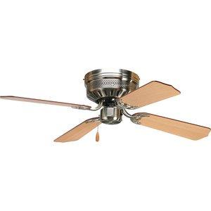 "Progress Lighting P2524-09 AirPro Hugger 42"" 4-Blade ceiling fan"