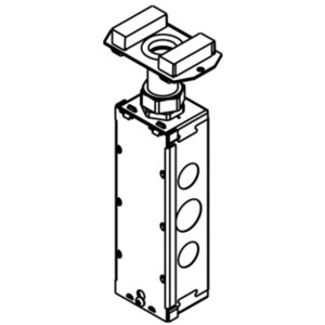 Wiremold 175CHA Bottom Housing Assembly, 1-Gang, Trade size: 3/4 Inch, Non-Metallic