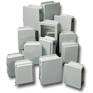 "Stahlin J1008W Enclosure, NEMA 4X, 10"" x 8"" x 4"", Screw Cover, Gray, Fiberglass"