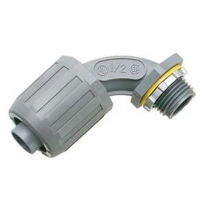 "Arlington NMLT905 Liquidtight Connector, 90°, 1/2"", Type Snap-On, Non-Metallic"