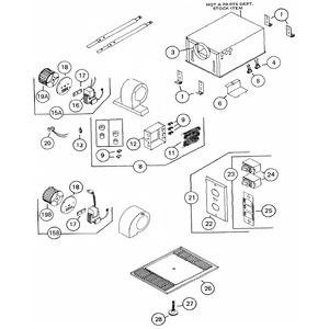 Nutone S57769000 NUTONE 57769-000 MOTOR ONLY F/9663