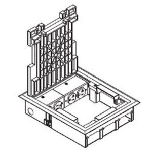 """Wiremold SAF21/2-KC Floor Box, Raised 2-1/2"""", Size: 9-1/8"""" x 11"""", Accomodates (2) Duplex Receptacles and (6) Communication Devices,"""