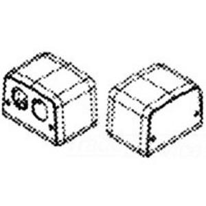 Wiremold 525F Service Box Fitting, Type: Duplex Receptacle Opening, Metallic