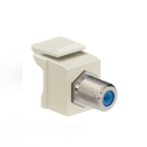 Leviton 41084-FIF F-Type Adapter, Ivory, Nickle Plated