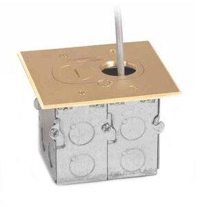 Lew RCFB-1 Duplex Receptacle, 1-Gang, Floor Box Assembly