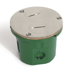 "Lew 812-DFB-NS Round Floor Box, Diameter: 4"", Depth: 3.14"", Non-Metallic"