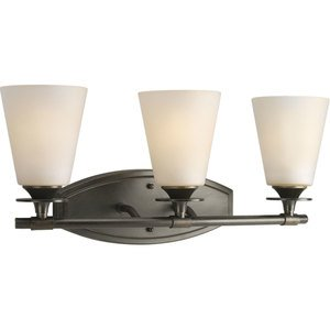 Progress Lighting P3248-77 Bath Light, 3 Light, 100W, Forged Bronze
