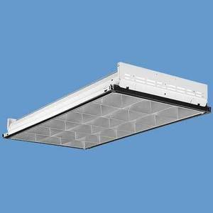 Lithonia Lighting PT2UAMV Parabolic Recessed Fixture, 2 x 2', 2-Lamp, T8 U-Shaped, 32W