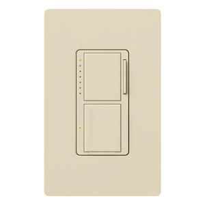 Lutron MA-L3S25-ES Incandescent/Halogen Dual Dimmer and Switch, Eggshell