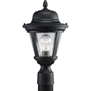 Progress Lighting P5445-31 Post Lantern, Outdoor, 1-Light, 100W, Textured Black