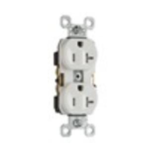 Pass & Seymour TR20-W Tamper Resistant Duplex Receptacle, 20 Amp, 125 Volt, White