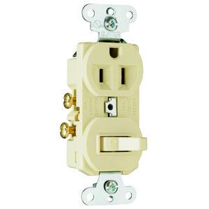 Pass & Seymour 691-LA Combo Switches 1p 15a 120 Recep 15a