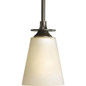 Progress Lighting P5139-77 Mini-Pendant Light, 1 Light, 100W, Forged Bronze, Limited Quantities Available