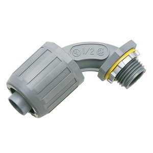 "Arlington NMLT9010 Liquidtight Connector, 90°, 1"", Type Snap-On, Non-Metallic"