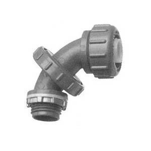 "Arlington NMLT5090 Liquidtight Connector, Adjustable to 90°, 1/2"", Non-Metallic"
