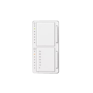 Lutron MA-L3T251HW-WH Dual Dimmer/Timer Switch, Maestro, White