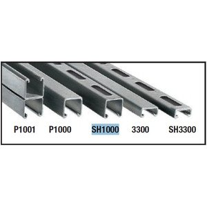 "Perma-Cote PMSH1000-10 Channel, Slotted, PVC Coated Steel, 1-5/8"" x 1-5/8"" x 10'"