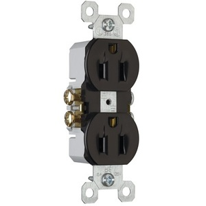 Pass & Seymour 3232-BK Duplex Receptacle, 15 Amp, 125 Volt, Black