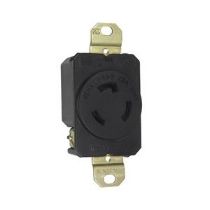 Pass & Seymour L620-R Locking Receptacle, 20A, 250V, Black