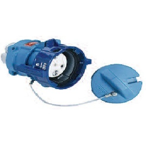 Meltric 89-94043 Female Receptacle, Circular Multi-Pin, 3-Pole, 100 Amps, 480 VAC, 3-Phase, Blue