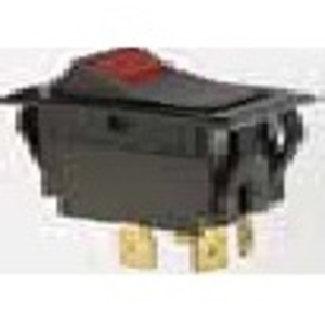 Ideal 774056 Rocker Switch, Red Light, DPST, On-Off, Spade Termination, 4 Terminals