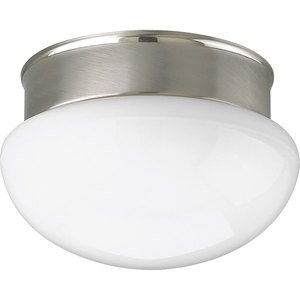 Progress Lighting P3408-09 Close to Ceiling Light, 1-Light, 60W, Brushed Nickel
