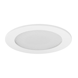 "Juno Lighting V4012-WH Stippled Opal Lens Shower Trim, Reflector, 4"", White"