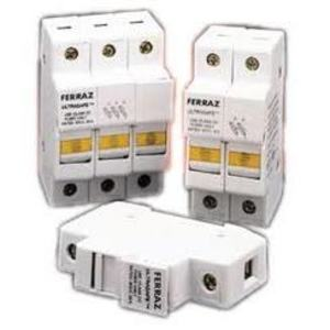 Ferraz USCC3 Fuse Holder, Class CC, Ultra Safe, 3P, 30A, 600V AC/DC, 20kA
