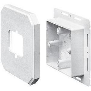 "Arlington 8091F Mounting Box, Vertical Mount, 1.625"" Deep, White, Non-Metallic"