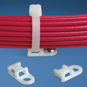 """Panduit TA1S8-C Cable Tie Mount, Tie Anchor, 3/4"""", Screw Applied, 4-Way, Natural"""