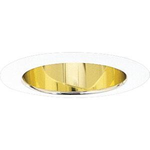 "Progress Lighting P8368-22A 5"" GOLD SHALLOW ALZAK"