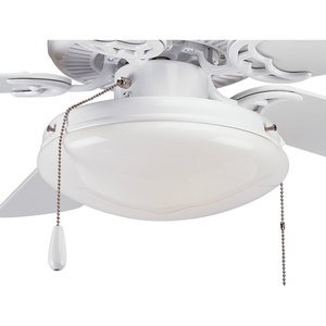 Progress Lighting P2611-30 Paddle Fan Light Kit, 2-Light, White