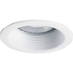 "Progress Lighting P8175-28 Deep Baffle Trim, 5"", White Baffle/White Trim"