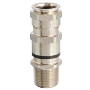 """Cooper Crouse-Hinds ADE6M202NPSK3 Cable Gland, ADE-6F Series, M20 Thread, 1/2"""", Nickel Plated Brass"""