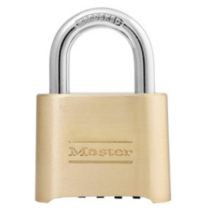 "Master Lock 175D Padlock, 2"" Wide, Set Your Own Combination, Solid Body"