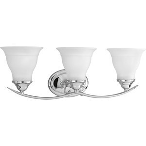 Progress Lighting P3192-15 Bath Light, 3-Light, 100W, Polished Chrome