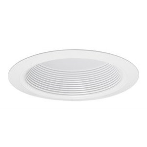 "Juno Lighting V3034T-WWH Baffle Trim, w/ Torsion Springs, 6"", White Baffle/White Trim"