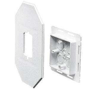 Arlington 8081FDBL Siding Box Kit with Flange, Vertical, Weatherproof, Non-Metallic